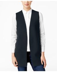Charter Club Blue Open-front Sweater Vest, Only At Macy's