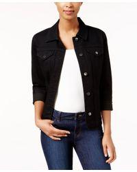 Charter Club Black Denim Jacket, Only At Macy's