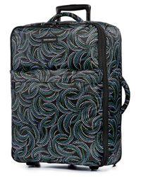 "Vera Bradley | Multicolor 26"" Foldable Rolling Suitcase In Nomadic Flora | Lyst"