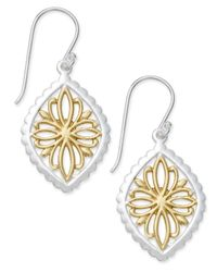 Giani Bernini - Metallic Two-tone Openwork Drop Earrings In Sterling Silver And Gold-plated Sterling Silver - Lyst