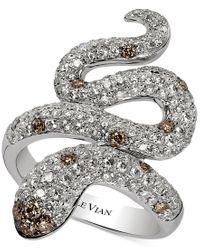 Le Vian   Metallic Red Carpet Chocolatier Diamond Snake Ring (1-7/8 Ct. T.w.) In 14k White Gold   Lyst