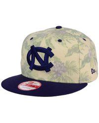 KTZ Multicolor North Carolina Tar Heels Faded Trop 9fifty Snapback Cap for men