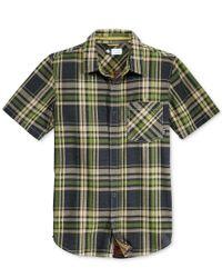 LRG | Green Men's Short-sleeve Big Cat Plaid Shirt for Men | Lyst