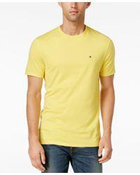 Tommy Hilfiger - Yellow Men's Core Beach Crew Neck T-shirt for Men - Lyst
