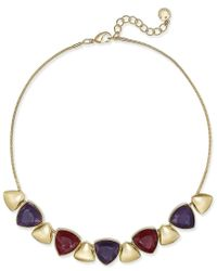 Charter Club | Metallic Gold-tone Multi-stone Statement Necklace, Only At Macy's | Lyst