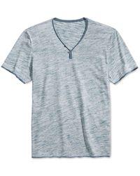 INC International Concepts | Blue Men's Heathered Le Grecko Y-neck Short-sleeve T-shirt for Men | Lyst