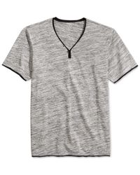 INC International Concepts | Gray Men's Le Grecko Heathered Y-neck T-shirt, Only At Macy's for Men | Lyst