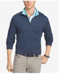Izod | Blue Men's Hampton Quarter-zip Shirt for Men | Lyst