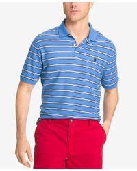 Izod | Blue Men's Striped Polo for Men | Lyst
