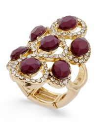 INC International Concepts - Multicolor Gold-tone Red Stone Filigree Statement Ring, Only At Macy's - Lyst