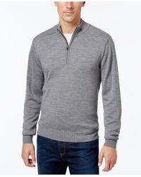 Cutter & Buck | Gray Men's Douglas Half-zip Heathered Sweater for Men | Lyst