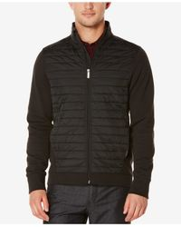 Perry Ellis | Black Men's Big & Tall Zip-front Jacket for Men | Lyst
