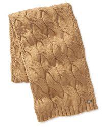 Michael Kors | Natural Men's Cable-knit Scarf for Men | Lyst