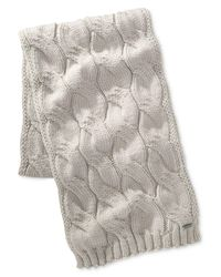 Michael Kors | Gray Men's Cable-knit Scarf for Men | Lyst