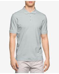 Calvin Klein   Metallic Men's Liquid Cotton Polo Shirt for Men   Lyst