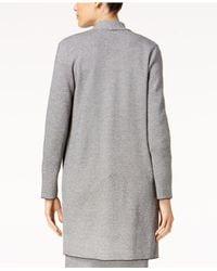 Alfani - Gray Shawl-collar Sweater Coat - Lyst
