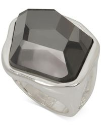 Robert Lee Morris - Metallic Silver-tone Black Stone Ring - Lyst