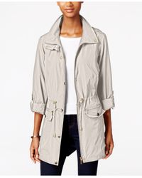 Style & Co. | White Hooded Anorak Jacket, Only At Macy's | Lyst