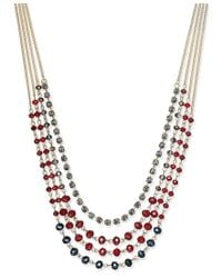 INC International Concepts - Multicolor Gold-tone Multi-bead Layer Necklace, Only At Macy's - Lyst