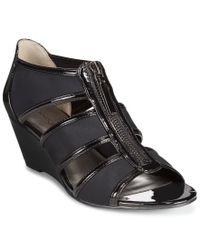 Bandolino - Natural Opie Wedge Sandals - Lyst