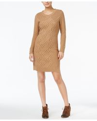 Tommy Hilfiger | Natural Adela Cable-knit Sweater Dress | Lyst