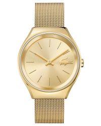 Lacoste | Metallic Women's Valencia Gold-tone Stainless Steel Mesh Bracelet Watch 38mm 2000952 | Lyst