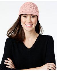 Calvin Klein   Black Honeycomb Cable Cabbie Hat   Lyst