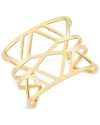 Vince Camuto | Metallic Gold-tone Openwork Cuff Bracelet | Lyst