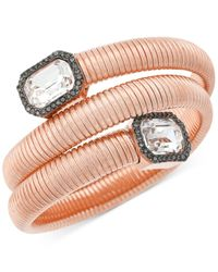 Vince Camuto | Pink Rose Gold-tone Coiled Crystal Bracelet | Lyst