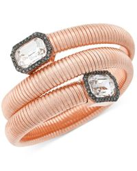 Vince Camuto   Pink Rose Gold-tone Coiled Crystal Bracelet   Lyst