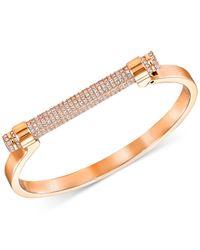 Swarovski - Metallic Friend Pavé Crystal Bar Bangle Bracelet - Lyst