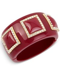INC International Concepts - Red Iris X Pave Acrylic Bangle Bracelet, Only At Macy's - Lyst
