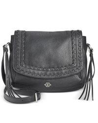 Nanette Lepore | Black Cortina Flap Crossbody | Lyst