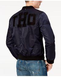 Tommy Hilfiger - Blue Miller Appliqué Bomber Jacket for Men - Lyst