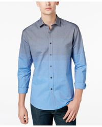 Vince Camuto | Blue Men's Ombre Long-sleeve Shirt for Men | Lyst