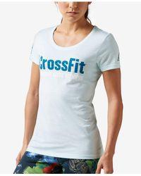 Reebok | Blue Crossfit Forging Elite Fitness T-shirt | Lyst