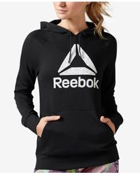 Reebok | Black Workout Ready Pullover Graphic Hoodie | Lyst