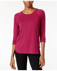 DKNY | Multicolor Textured Knit Pajama Top | Lyst