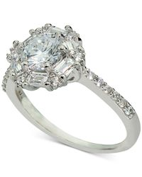 Macy's | Metallic Giani Bernini Cubic Zirconia Statement Ring In Sterling Silver, Only At | Lyst