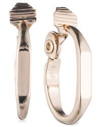 Anne Klein - Metallic Gold-tone Polished Clip-on Hoop Earrings - Lyst