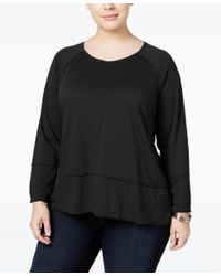 Style & Co.   Black Plus Size High-low Top, Only At Macy's   Lyst