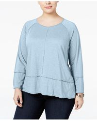 Style & Co. | Blue Plus Size High-low Top, Only At Macy's | Lyst