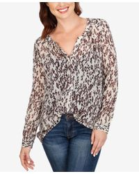 Lucky Brand | Multicolor Sheer Printed Shirt | Lyst