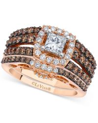 Le Vian | Multicolor Chocolatier Diamond Bridal Set (1-3/4 Ct. T.w.) In 14k Rose And White Gold | Lyst