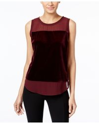 INC International Concepts | Red Illusion-trim Top, Only At Macy's | Lyst