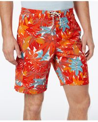 Tommy Bahama   Red Men's Baja Lime Fronds Board Shorts for Men   Lyst