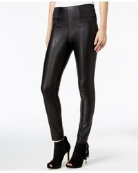 fb2807021bbcd Guess Suzanne Faux-leather Leggings in Black - Lyst