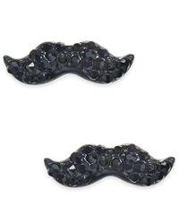 Kate Spade | Dress The Part Black-tone Mustache Stud Earrings | Lyst