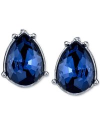 2028 | Silver-tone Blue Faceted Stone Drop Earrings | Lyst