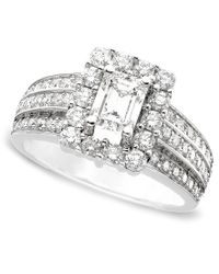 Macy's - Metallic Engagement Ring, Certified Diamond (1-3/4 Ct. T.w.) And 14k White Gold - Lyst